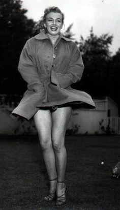 It was windy here yesterday and today, and I guess it was windy when Marilyn had this photo taken too