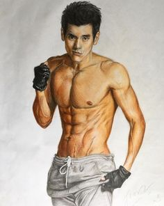 Eddie Peng - colourpencil Drawing