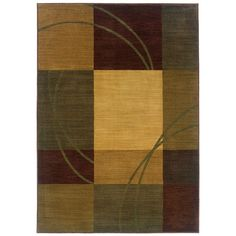Eternity Nuance Blue and Brown 6 ft. 7 in. x 9 ft. 1 in. Area Rug, Blue/Brown