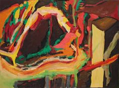 Cave 13 Abstract Landscape Oil Painting: James Homer Brown . New York style art from metro Detroit. James Homer Brown, member of the Detroit Art Scene paints colorful urban paintings for corporations, individuals and the movie industry.