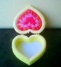 Image result for 3d origami heart box