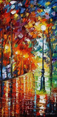 Empty Park Painting  - Empty Park Fine Art Print