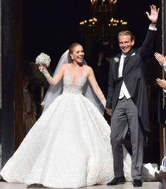 Swarovski Crystal Heiress Victoria Swarovski's Wedding Gown. Amazing!!! #MichaelCinco #madeindubai