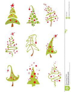 Alberi di Natale illustrazione di stock. Immagine di celebrazione - 20474522