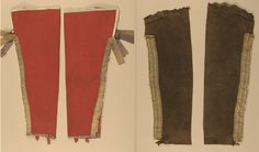leggings red wool and black buckskin, late century, western Great Lakes, Caldwell Collection, Canadian Museum of History ac Canadian Clothing, Woodland Indians, Longhunter, Native American Men, Fur Trade, American Revolutionary War, Native Style, Life Pictures, First Nations