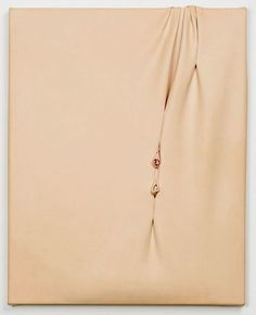 MARTIN SOTO CLIMENT Caramel, 2015 Leather on stretcher 7 9/10 × 6 3/10 × 4/5 in