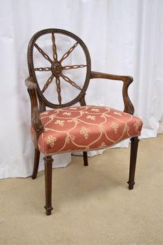 Edwardian Sheraton Style Armchair | Sutton Antieks