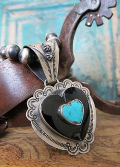 Spectacular Dan Dodson Heart Pendant on a Bench Bead necklace - from Cowgirl Kim