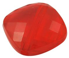 25 ct Chunky Beads Transparent Faceted Acrylic Beads 16mm - Red Rounded Square (CBSQ16-TRD1008) via Etsy