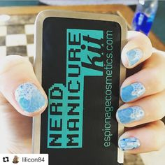 Lilicon84 on Instagram wearing our Ms. Zero nail wraps! #EspionageCosmetics #NerdManicure #Snow #Snowflake #Frozen #Elsa #Winter #Nails #NerdNails #NailArt #Nailspiration