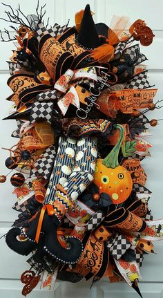 Halloween WreathHalloween Witch Wreath HalloweenHalloween