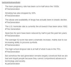 Some facts i guess, this generation is far from perfect but it's not terrible