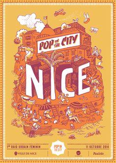 Pop in the city, premier raid urbain féminin. Le samedi 11 octobre 2014 à Nice.