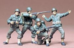 Tamiya US Army Infantry 1/35 Scale Plastic Figures | Hobbies