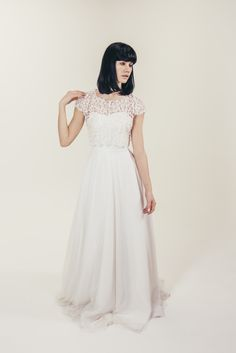 RTW Collection    E&W Couture    Fluer Crop    Seperates    Bridal Seperates    Alternative wedding dress