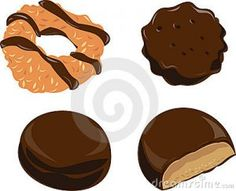 Recipes to use up Girl Scout Cookies Girl Scout Cookie Image, Girl Scout Cookie Sales, Brownie Girl Scouts, Recipe Using Girl Scout Cookies, Girl Scout Cookies Flavors, Gs Cookies, Chocolate Cookies, Cookie Pictures, Sales Girl