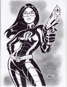 Bruce Timm Baroness Pin Up, in Bryan Carden's Bruce Timm Comic Art Gallery Room Bruce Timm, Comic Book Artists, Comic Artist, Comic Books Art, Gi Joe, Character Drawing, Comic Character, Character Design, Female Drawing