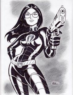 Bruce Timm, Comic Book Artists, Comic Artist, Comic Books Art, Gi Joe, Character Drawing, Comic Character, Character Design, Female Drawing