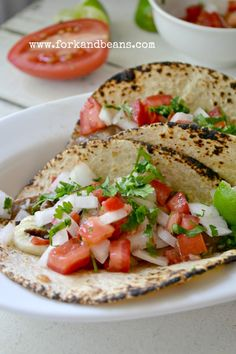 Oh look ... it's Taco Time! Better dig in to these Shiitake Mushroom Asada Tacos.