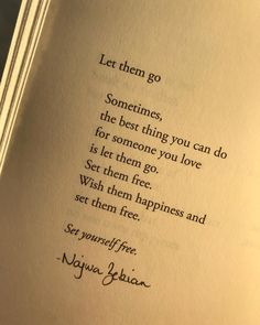 """Najwa Zebian on Instagram: """"Write """"I am ready to set myself free"""" if you're ready to let them go today. Pg. 240 from #thenectarofpain 🌺"""" Positive Vibes, Positive Quotes, Motivational Quotes, Inspirational Quotes, Letting Go Quotes, Go For It Quotes, Let Them Go Quotes, Najwa Zebian Quotes, Set Me Free"""