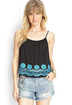 Crochet Hem Cami | FOREVER21 #F21Contemporary #SummerForever #F21xMe