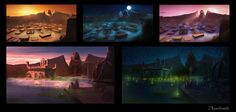 ArtStation - Alex Accorsi's submission on Ancient Civilizations: Lost & Found - Environment Design