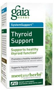 The health of the thyroid gland impacts how you feel on a daily basis. Because it helps regulate metabolism, every major system in the body is affected by altered levels of thyroid hormones. Gaia Herbs' unique formula supports normal thyroid hormone production - helping you maintain optimal weight, neuromuscular tone, and cardiovascular health. *
