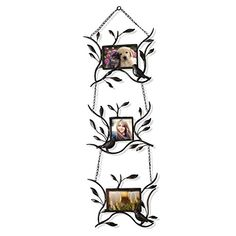 Adeco Brown Black Decorative 3Opening Collage Bronze Iron Metal Wall Hanging Picture Photo Frame 46 44 *** Learn more by visiting the image link.