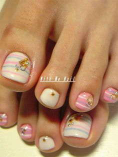 Easy & Cute Toe Nail Art Designs & Ideas 2013/ 2014 For Beginners
