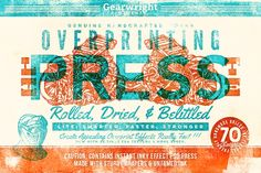 Overprinting Press Lite by Gearwright on Creative Market