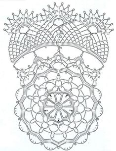 Bilderesultater for crochet doily diagram pattern Crochet Doily Diagram, Crochet Art, Crochet Stitches Patterns, Thread Crochet, Crochet Motif, Crochet Designs, Crochet Crafts, Crochet Projects, Filet Crochet