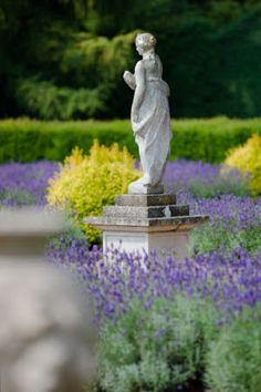 Statue in the Dutch Garden at Belton House, Lincolnshire. Dutch Gardens, English Gardens, Garden Art, Garden Design, Garden Ideas, Belton House, Lavender Garden, Garden Angels, Victorian Gardens