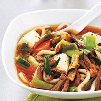 Kimchee, Squash and Tofu Soup