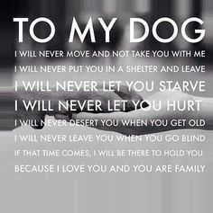 My dog is family!