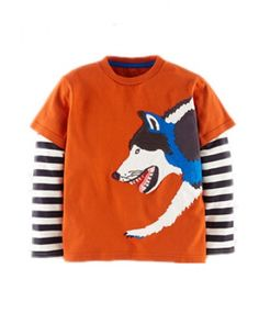 Cartoon patch animal long sleeve t shirts for kids dinosaur rhino and wolf style Wolf T Shirt, Cartoon, Boys, Long Sleeve, Sleeves, Shirts, Animals, Clothes, Women