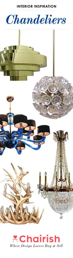 What's more glamorous than a chandelier? Perfect as the main statement piece in a dining room, bedroom or kitchen, a chandelier serves as art and lighting. From crystal glass chandeliers to vintage Modern acrylic chandeliers, Chairish has it all. Shop Chairish for chandeliers and add artistic lighting in your favorite spaces!