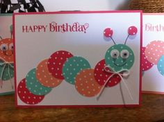 Caterpillar Kids Birthday card
