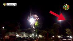 Objeto não identificado no interior de SP filmado durante queima de fogo...