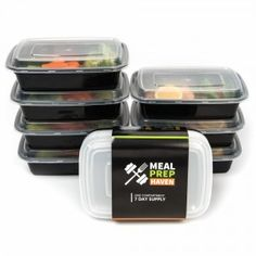 6. Meal Prep Haven Food Containers with Lids for Portion Control