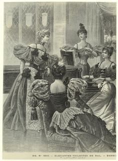 Élégantes toilettes de bal. (1895)