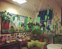 Reading corner... Woodland... Forest... School... Ks1... Animals.... Books... Displays