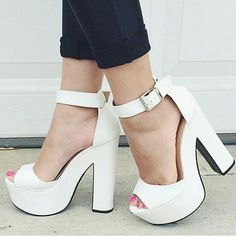 "Public Desire | Chunky Heel Platforms Brand new, Size 6UK/7US These are white. Purchased online,  not my style. Heel Is 6"" Platform is 2"" in height.  ❌NO TRADES❌ PRICE IS FIRM!!! Public Desire Shoes"