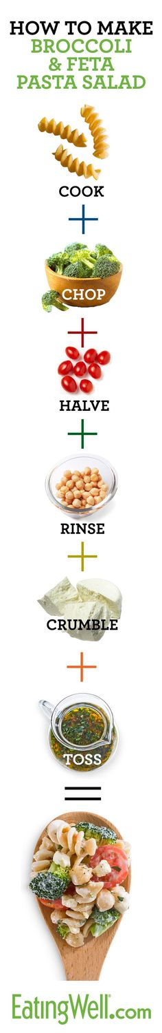 Check out this step-by-step how to guide! Broccoli & Feta Pasta Salad anyone? You find this recipe at eatingwell.com