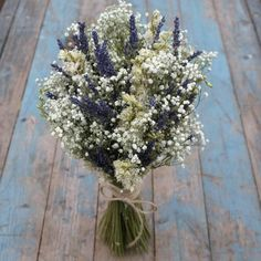 Lavender Twist Babys Breath Wedding Bouquet