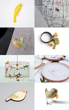Birds by Atelier-lilalô on Etsy--Pinned with TreasuryPin.com