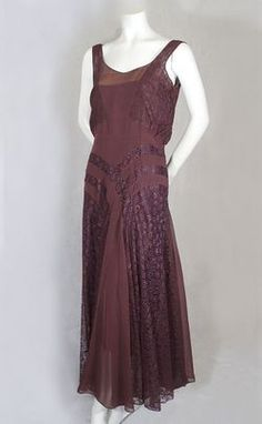 1930's Aubergine silk gown...oh, now this would feel so wonderful