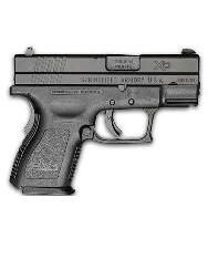 """Springfield XD 9mm 3"""" Black Handgun - 1 of the 4 we can use to qualify on the CHL range test."""