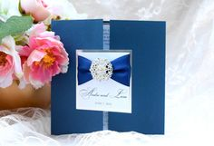 Navy and Mirrorized Silver Custom Wedding by WrappedUpInDetails