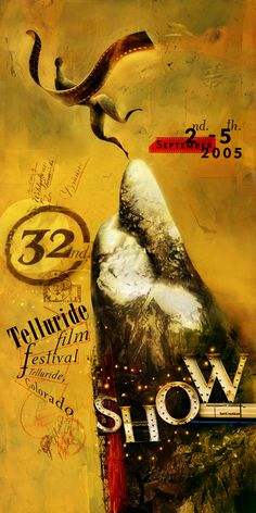 Dave McKean - Poster - 2005 - Telluride 32. Film festival poster.  Graphic Design - Illustration