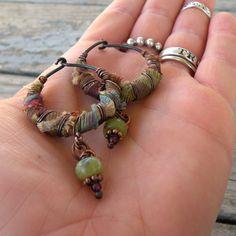 Silk Road Gypsy Hoop Earrings by GypsyIntent